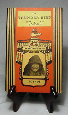 """The Thunder Bird """"Tootooch"""" Legends of NW Coast Indians/Scarce 1936 Paperback"""