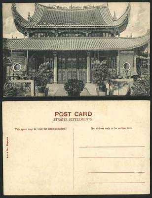 Singapore Old Postcard CHINESE TEMPLE, BALLESTIER ROAD Straits Settlements China