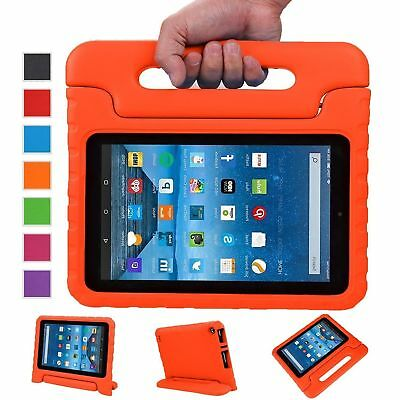 Kids Shockproof Foam Handle Stand Tablet Case For Amazon 2016 Kindle Fire HD 8