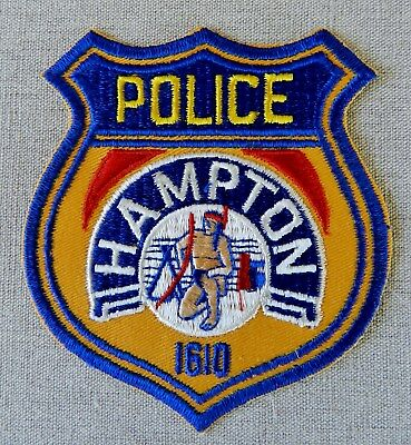 Vintage Former Design Hampton Police Patch (Virginia) (ca. 1979 - Unused/Mint)