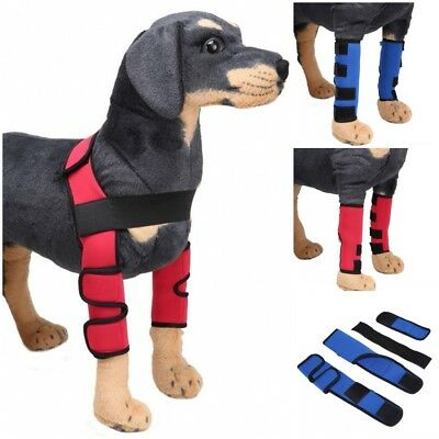 US Pet Dogs Elbow Leg Protectors Puppy Surgery Wound Support Wrap Brace Sleeve