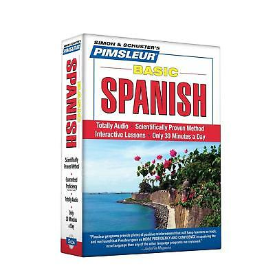 Pimsleur Spanish Basic Course Level 1 Lessons 110 CD Learn to Speak and