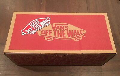 Vans Off The Wall Replacement Shoe Box & Sticker Red Small - EMPTY Box Only