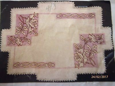 """Vintage Myart Tray Cloth - """"rose Spray"""" - New & Unused, Ready To Complete"""