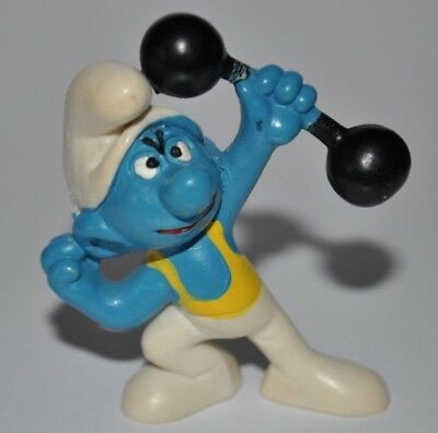 Vintage Smurf - Hefty With Yellow Shirt Figure/Strong