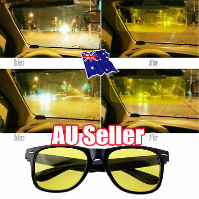 Night Sight Driving Glasses HD Sunglasses Polarized Anti Glare Night Vision OD
