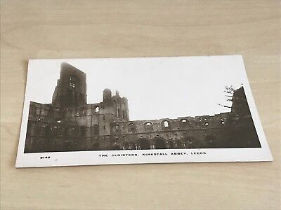 Early 1900s Real Photo Postcard The Cloisters, Kirkstall Abbey, Leeds