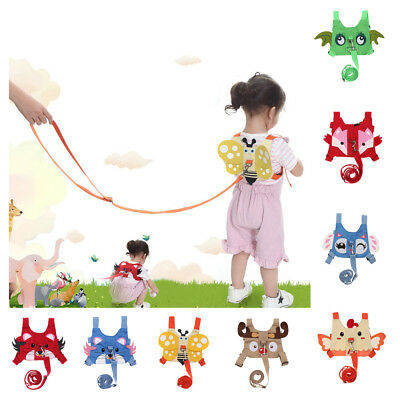 Baby Safety Walking Harness Anti-lost Reins with Leash Kids Travel Backpack 1-3Y