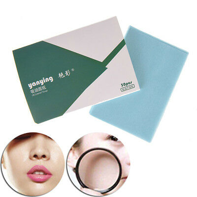 50pcs make up oil control oil-absorbing blotting face clean paper oil control  I