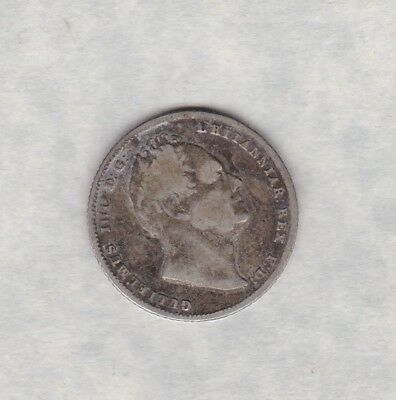 1836 William Iv Six Pence In A Used Fine Condition