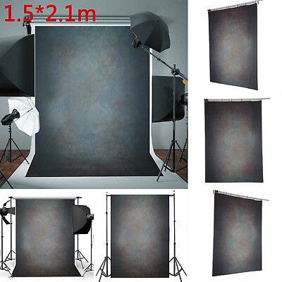 Vintage Black Grey Photo Backdrop Photography Studio Background Prop 5X7FT