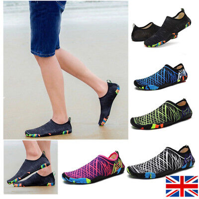 87bb56cb45 Mens Womens Water Shoes Aqua Shoes Beach Wet Wetsuit Shoes Swim Surf Shoes  UK