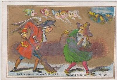 victorian new year card c 1875