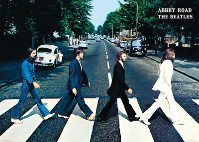 The Beatles Abbey Road London Classic Artist Giant Poster 100x140cm