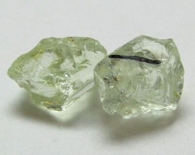 2 Grossular Garnet facet rough crystals 6.02 ctw.