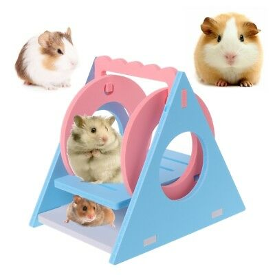 Hamster Toy Swing Ecological Wood Colorful Small Pet Chinchilla Squirrel Supply