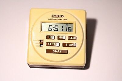 Vintage Smiths Electronic Clock Timer (Darkroom Or Kitchen Timer )