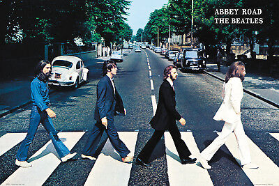 The Beatles Abbey Road Maxi Poster Print 61x91.5cm | 24x36 inches Zebra Cross