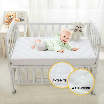 Brushed Fabric Quilted Anti-mite Mattress Protection Cover Waterproof  for Ba...