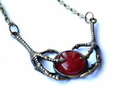 Raven Talons and Cornelian Pendant, Game of Thrones necklace The Red Wedding