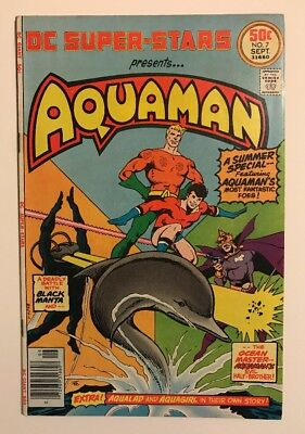 Old Comic DC Super-Stars Presents Aquaman No. 7