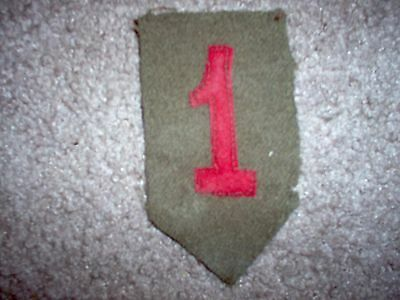 """WWI US Army 1st Division patch wool """"Big red one"""""""