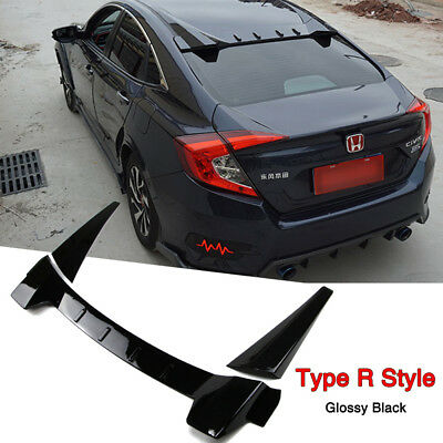 Rear Window Roof Spoiler Wing for Honda Civic 2016 2017 2018 Type R Style Black