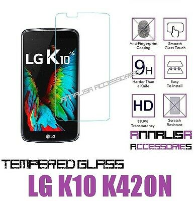 Pellicola Vetro Temperato Per Lg K10 K420N 2016 Tempered Glass Screen Protector