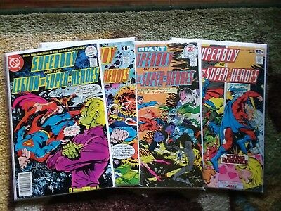Lot of 4 Comic Books / Superboy and the Legion of Super-Heroes / DC Comics