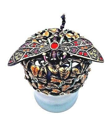 Jay Strongwater Dragonfly Candle Cover with Swarovski Crystals