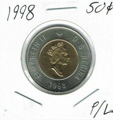 1998 Canadian Proof Like Uncirculated  Polar Bear $2 Toonie coin!