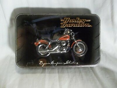 New c.1999 2 Decks Sealed HARLEY-DAVIDSON Playing Cards LIMITED EDITION Tin USA