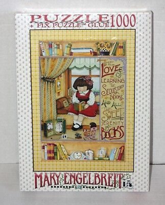 1997 Mary Engelbreit 1000 Piece Puzzle The Love of Learning 26 3/4 x 19 Sealed!!