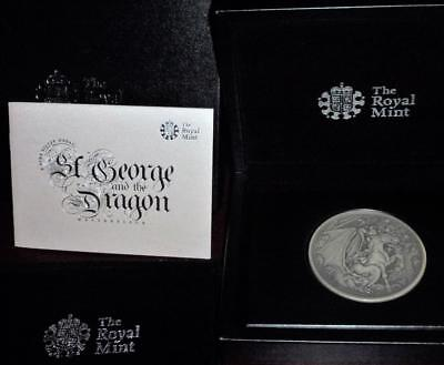 Spectacular .999 silver medal over 8 ounces Royal Mint issue see all images