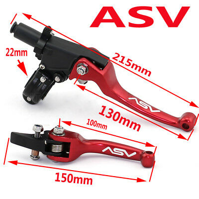 Aluminum ASV F3 Series 2ND Clutch & Brake Folding Lever Fit WR KLX CRF YZF RMZ
