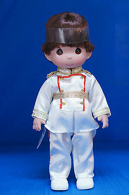 Prince Charming Brunette Christmas Disney Precious Moments Doll Signed 4848