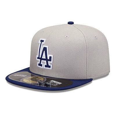 LA Dodgers Officially Licenced Diamond Grey New Era MLB 59FIFTY Fitted Cap
