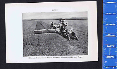 International Harvester Co - McCormick-Deering Harvester Thresher-1934 Print