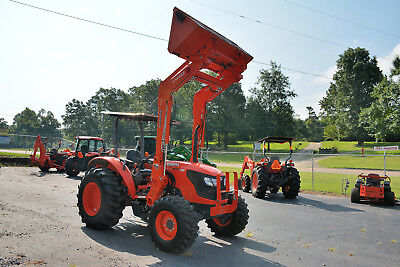 Kubota M7040D Tractor, 4X4, W/ldr, Frt & Rear Remote, 319 Hrs!! Nice!!