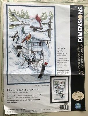 Dimensions # 35234 Bicycle Birds Counted Cross Stitch Kit U.S.A. OPEN