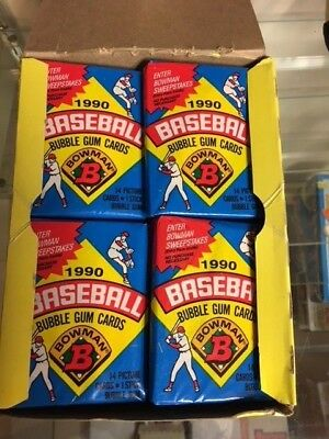 1990 Bowman Baseball Full 36 Count Wax Pack Box Possible Frank Thomas Rookie