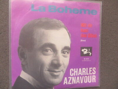 "7"" Single Charles Aznavour:la Boheme"