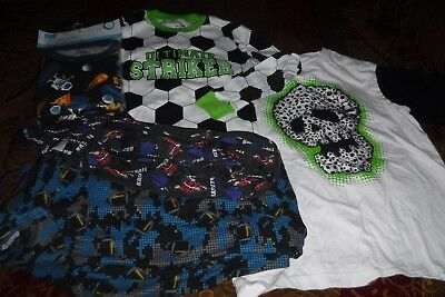 Lot of 6 Boys Children's Place Pajamas, Size 12 14, Some New, Pants, Tops, Set