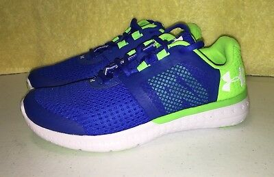 1 Details about  /New Girls Blue Under Armour Micro Fuel Prism Tennis Shoes