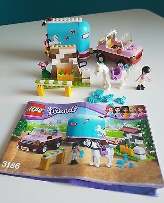 Lego Friends 3186 Emmas Horse Trailer 100 Complete With