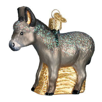 """Donkey"" (12312)X Old World Christmas Glass Ornament w/ OWC Box"