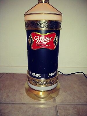 Vintage 1984 Miller High Life Beer Bouncing Ball Motion Sconce Light Bar Sign