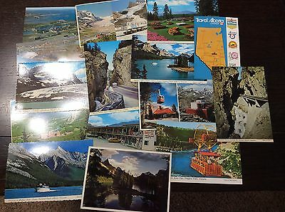 Vintage Canada Tourist Postcards Canadian Rockies & More! Lot Of 15