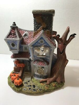 PARTYLITE HALLOWEEN HAUNTED TEALIGHT HOUSE P7311~Candle Holder~Decor RETIRED