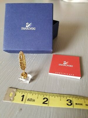Swarovski crystal Ink Well and Golden Quill figurine